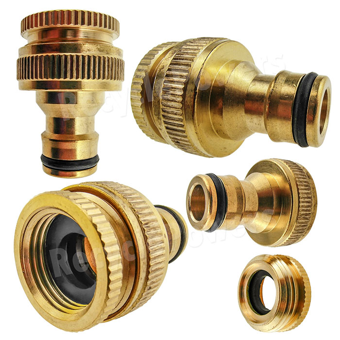 Pipe Nozzle Fitting Tap Adaptor Connector Garden Car Water Hose 1 2 3 39 4 Lot Ebay